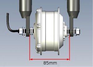 Entraxe roue AVANT : 85mm