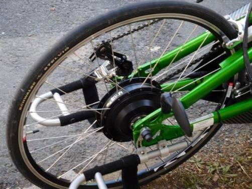 handbike equipé d'un kit électrique pour vélo