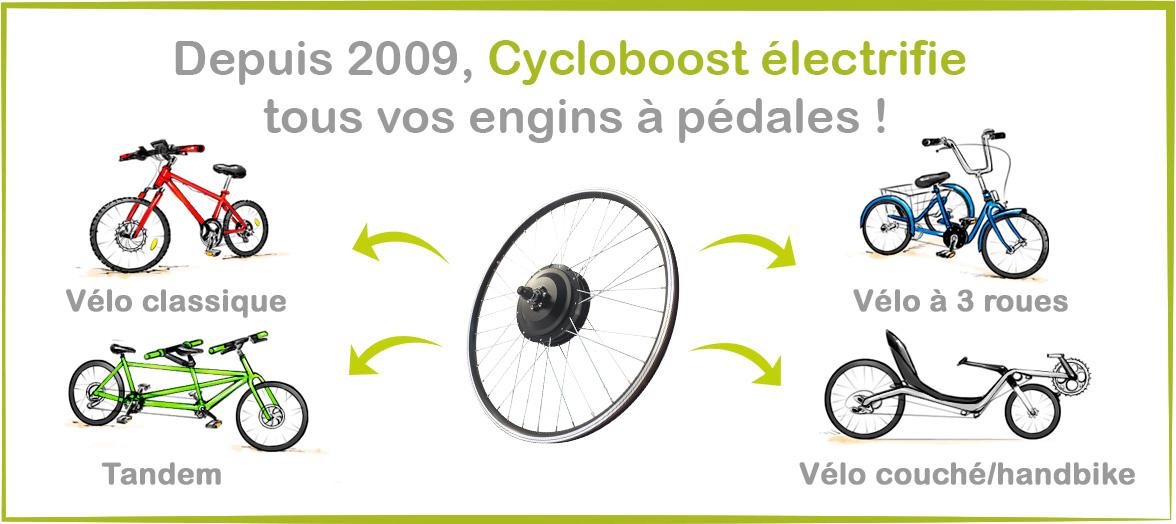 Cycloboost électrifie tous types de vélos !