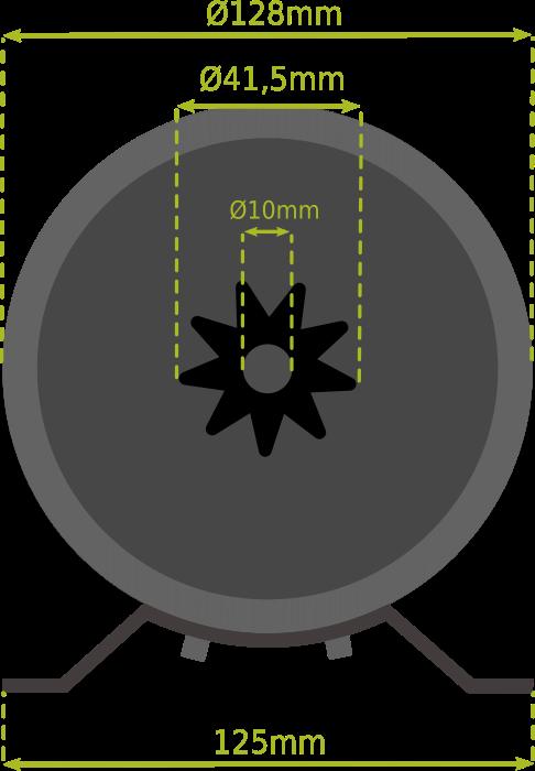 Dimension moteur BLT 500