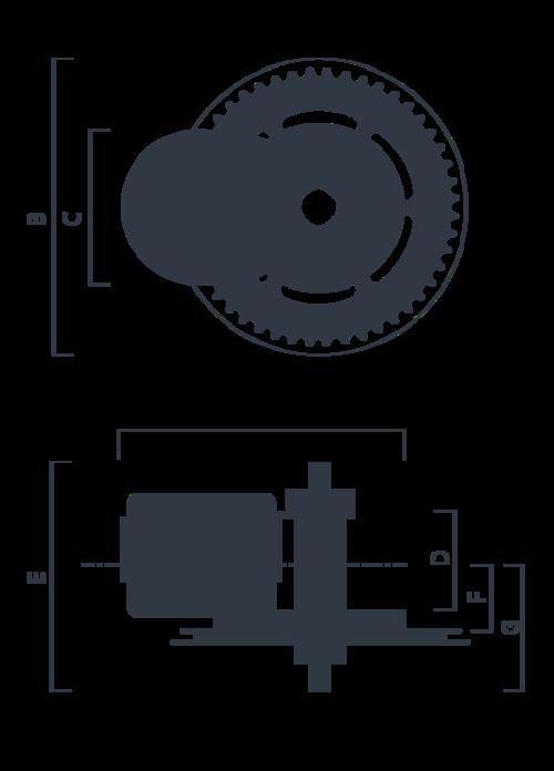 Dimensions du moteur